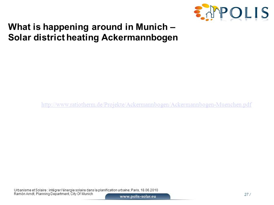 What is happening around in Munich – Solar district heating Ackermannbogen