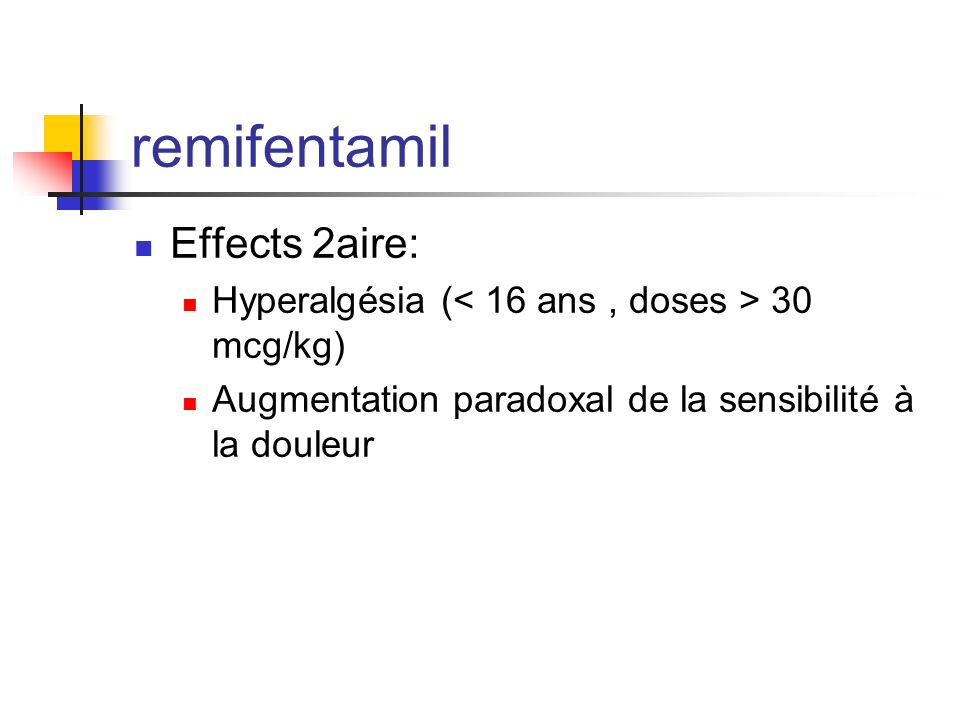 remifentamil Effects 2aire: