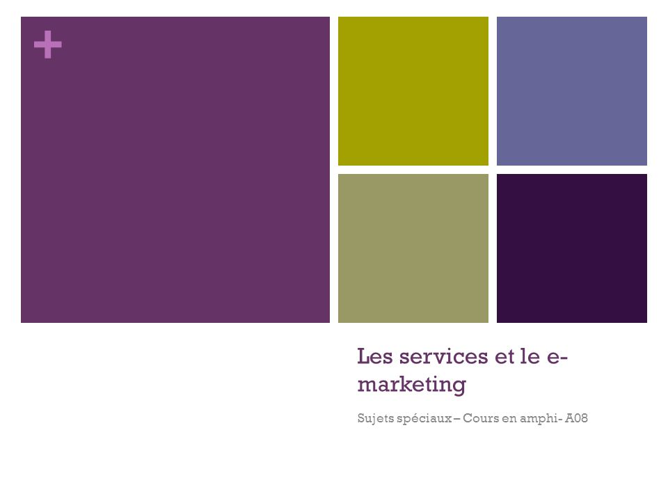 Les services et le e-marketing