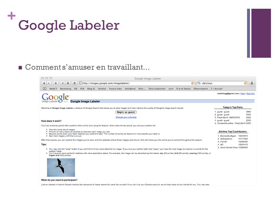 Google Labeler Comment s'amuser en travaillant...