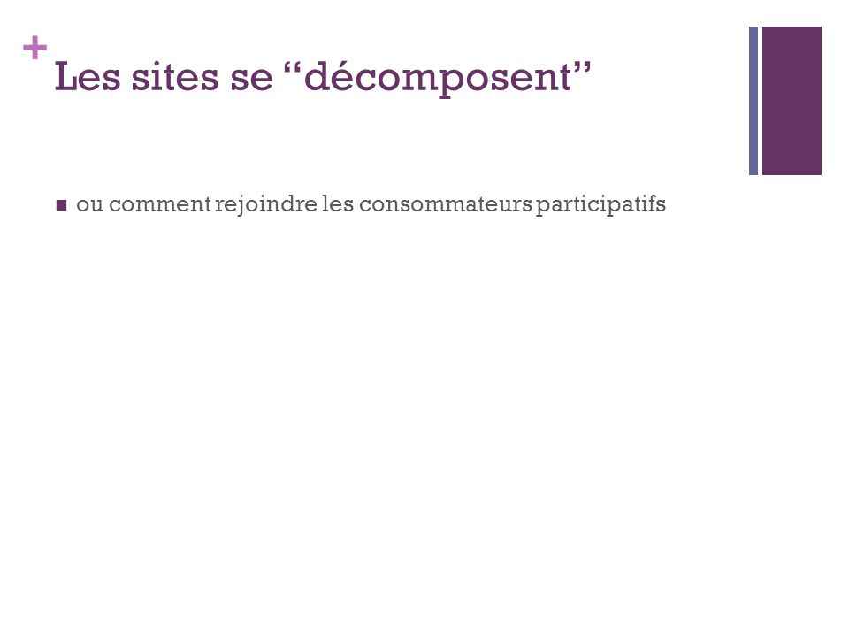 Les sites se décomposent