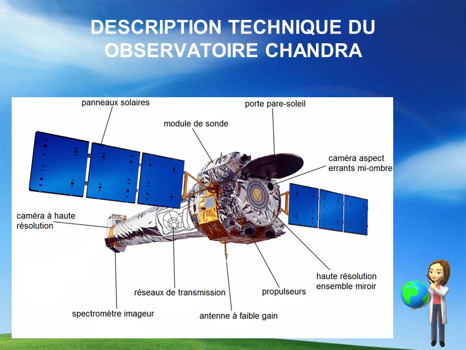 DESCRIPTION TECHNIQUE DU OBSERVATOIRE CHANDRA