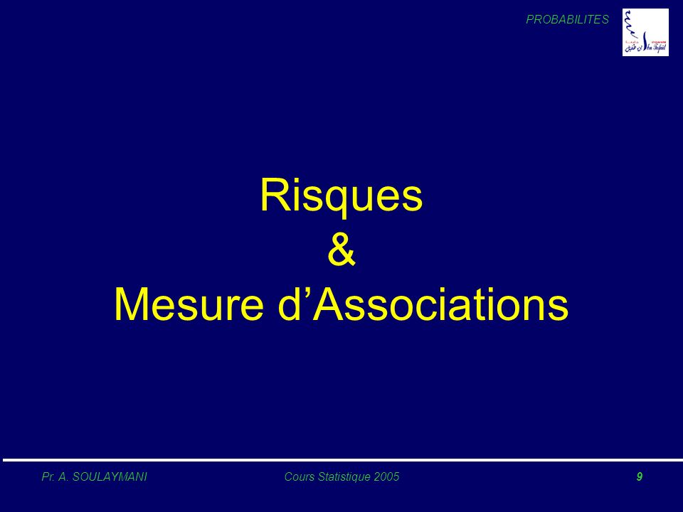 Risques & Mesure d'Associations