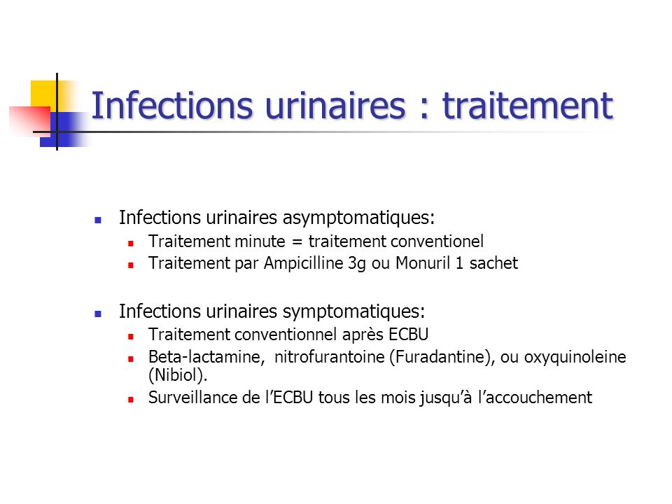 Infections urinaires : traitement