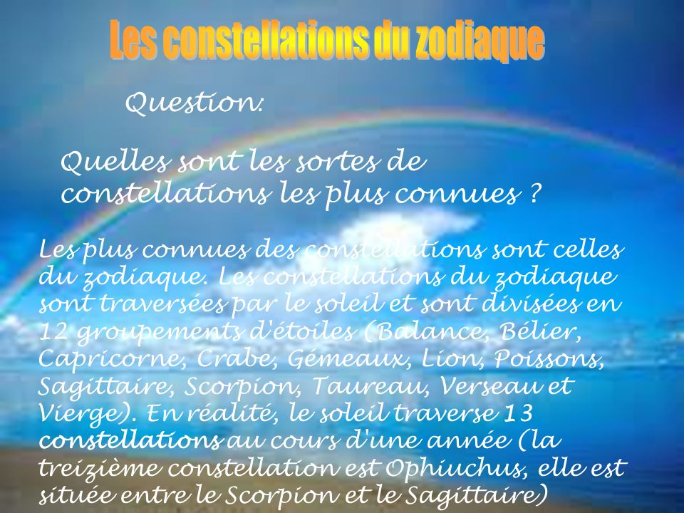 Les constellations du zodiaque
