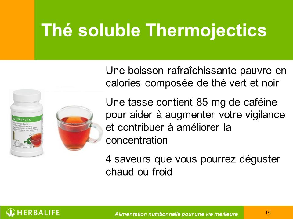 Thé soluble Thermojectics