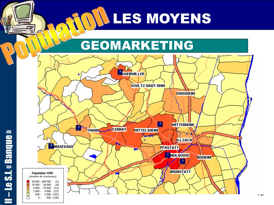 LES MOYENS Population II – Le S.I. « Banque » GEOMARKETING