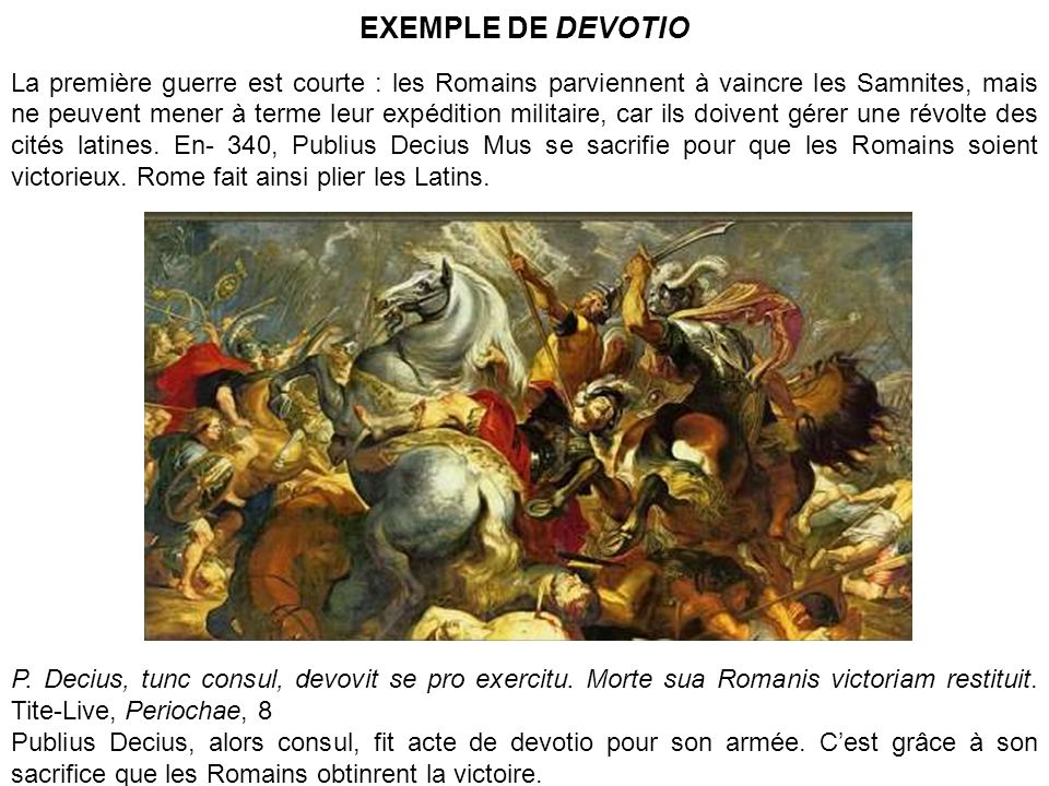 EXEMPLE DE DEVOTIO