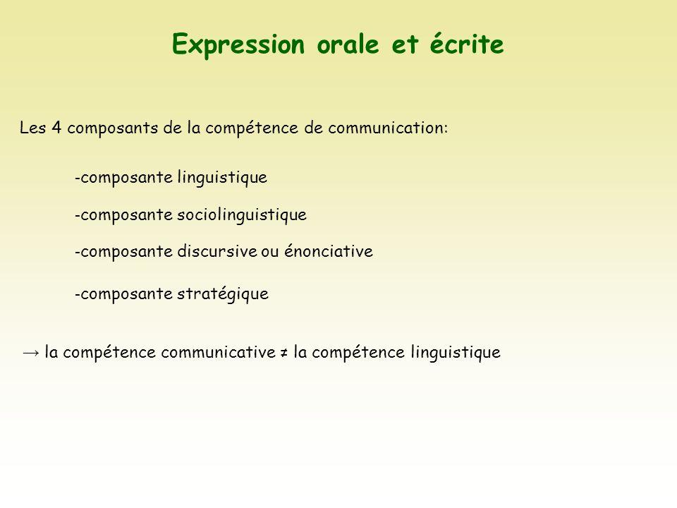 expression orale et  u00e9crite