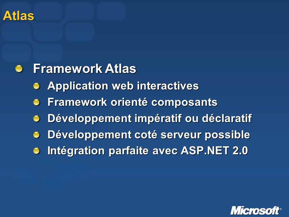 Atlas Framework Atlas Application web interactives