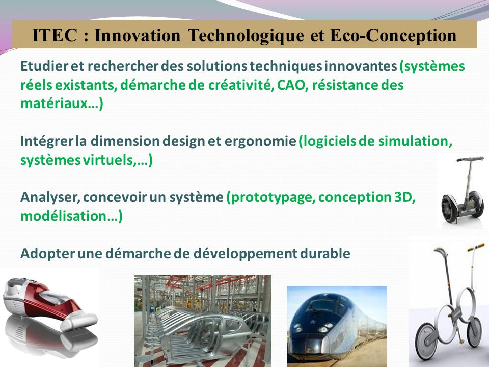 ITEC : Innovation Technologique et Eco-Conception
