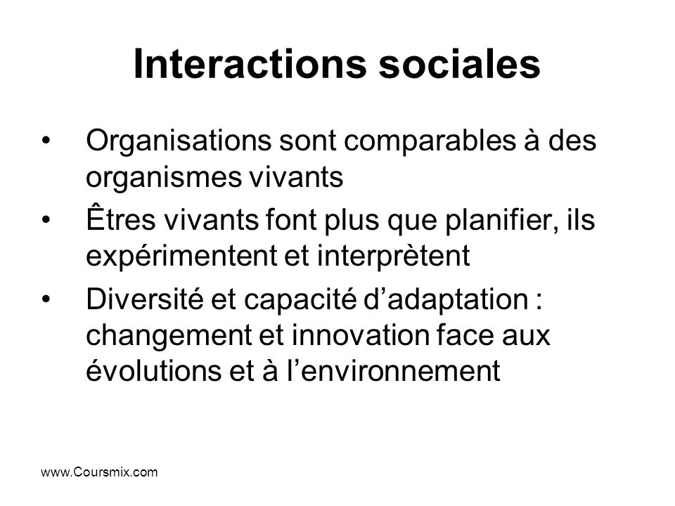 Interactions sociales