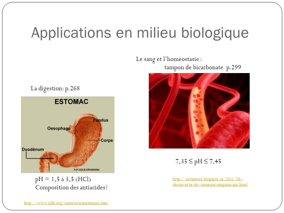 Applications en milieu biologique