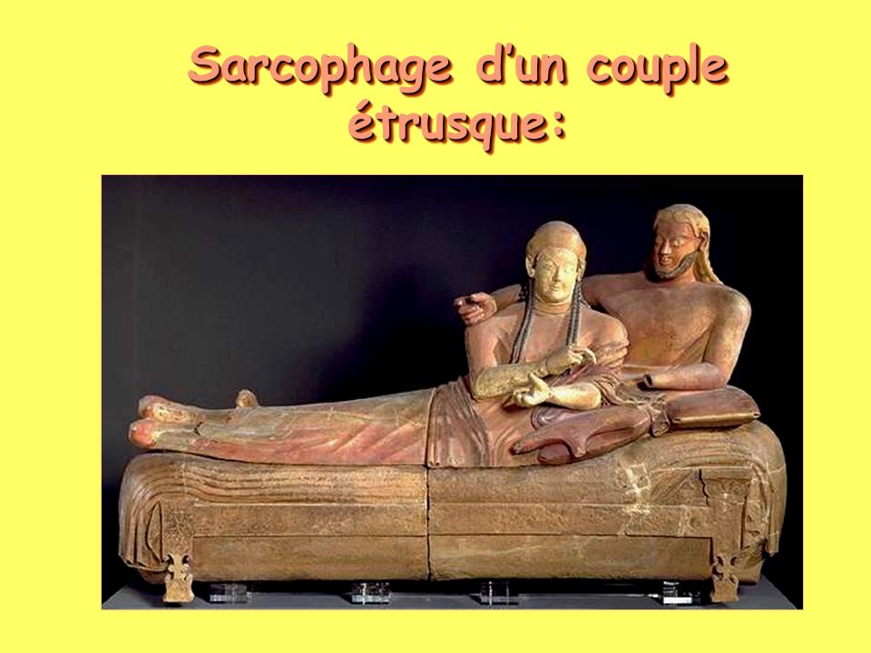 Sarcophage d'un couple étrusque: