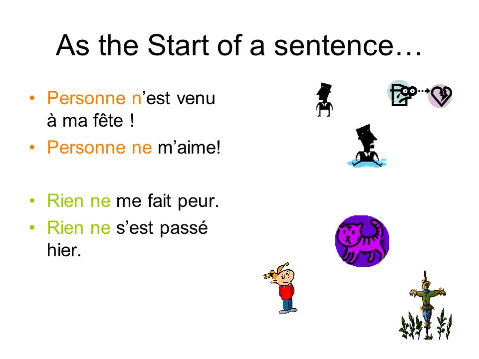 As the Start of a sentence…