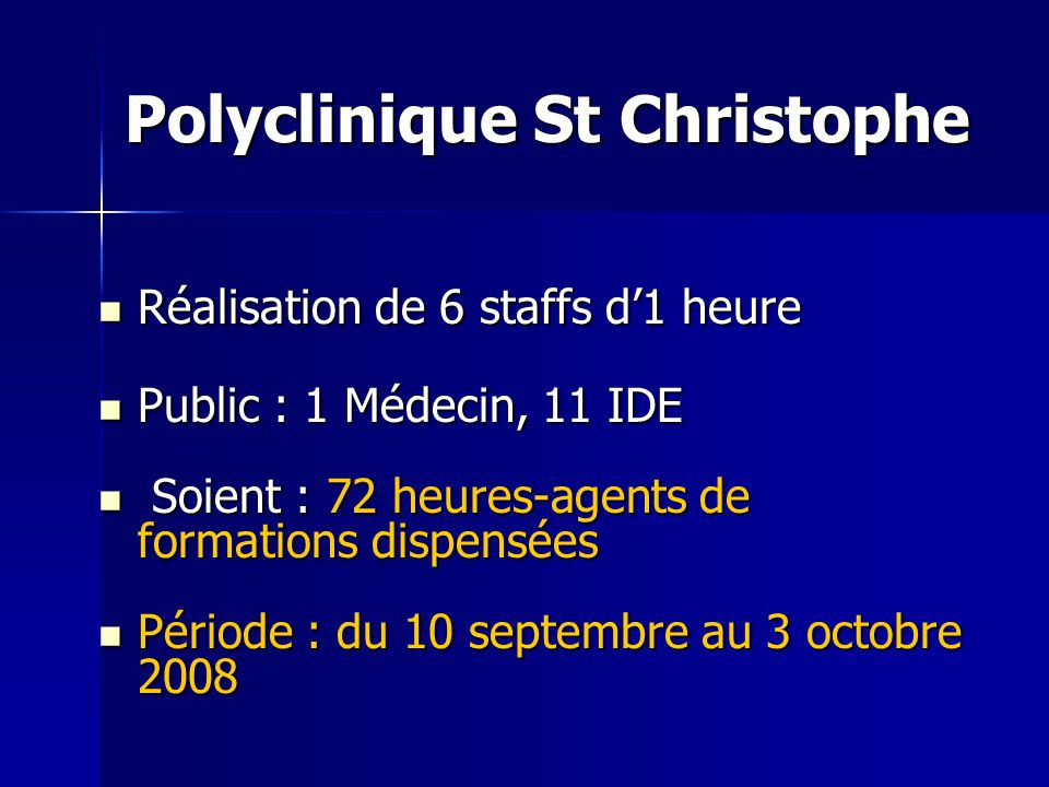 Polyclinique St Christophe