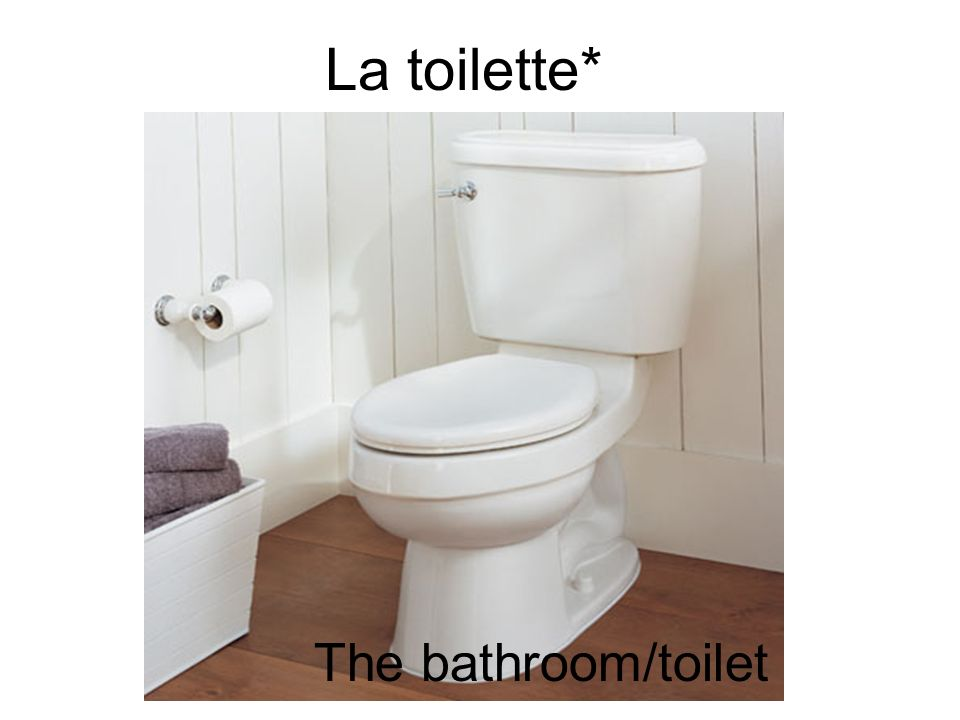 La toilette* The bathroom/toilet