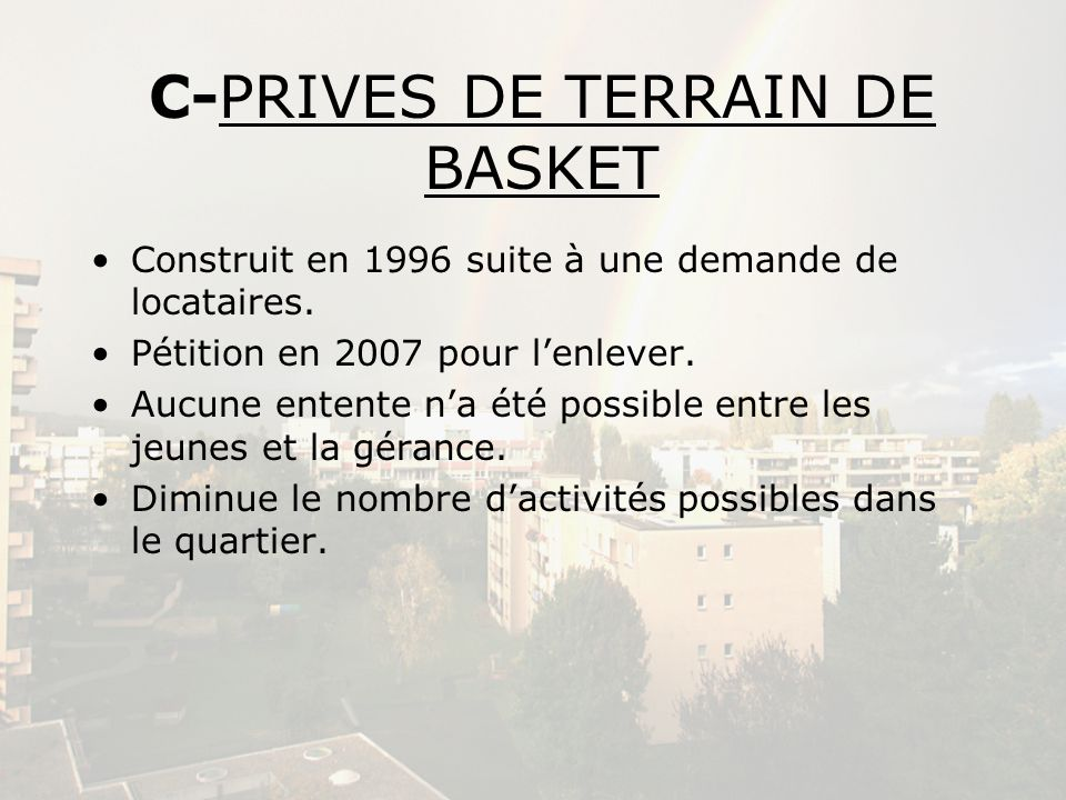 C-PRIVES DE TERRAIN DE BASKET