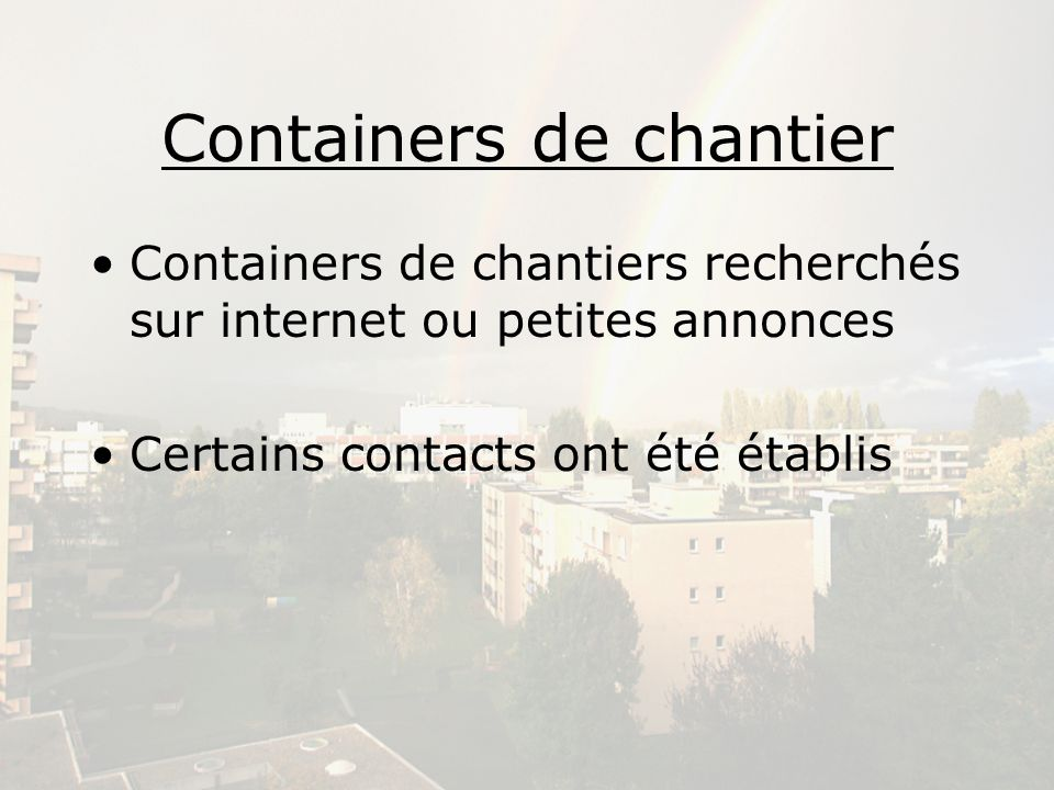 Containers de chantier