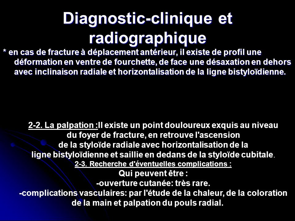 Diagnostic-clinique et radiographique