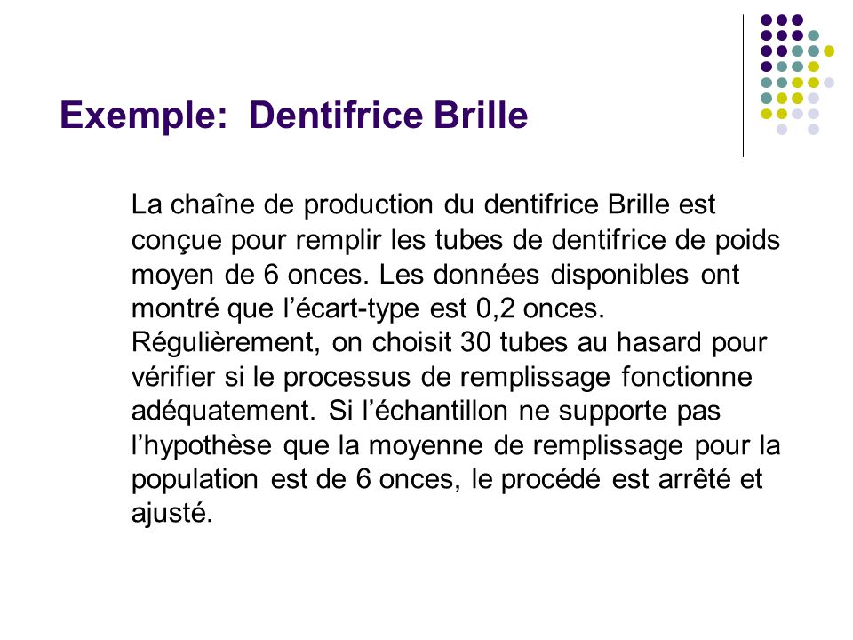 Exemple: Dentifrice Brille