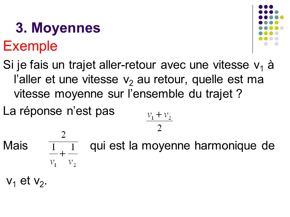 3. Moyennes Exemple.
