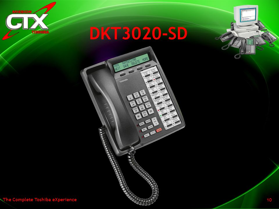 DKT3020-SD The other change is in the 20 button display phone in that we have expanded the display from the current 16 characters to 24.