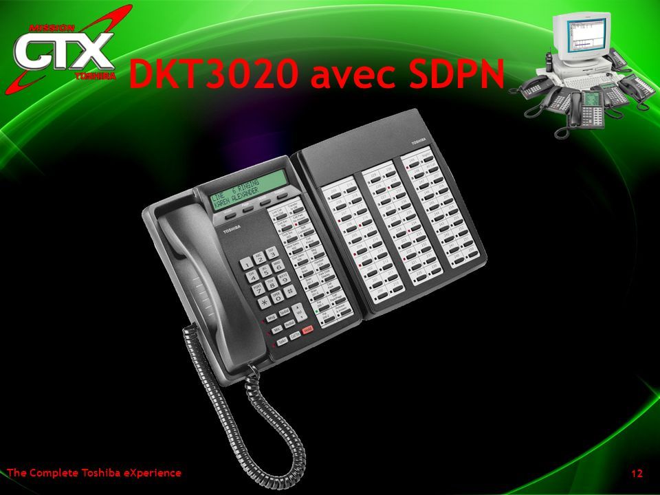DKT3020 avec SDPN We have also rounded out our DSS Console and our Add on Module to match the new look and footprint of the new telephones.