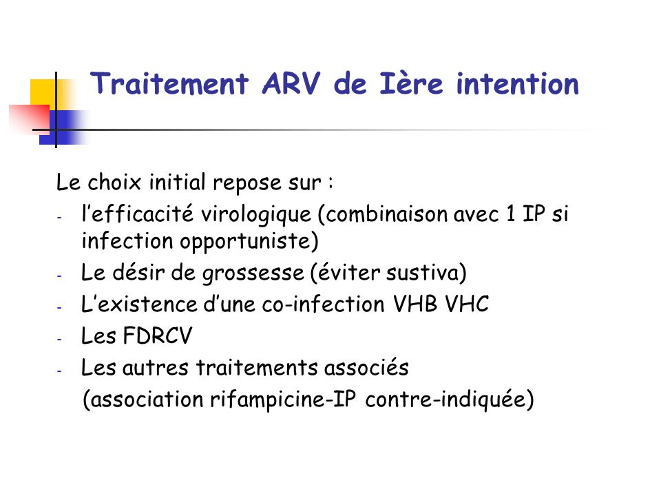 Traitement ARV de Ière intention