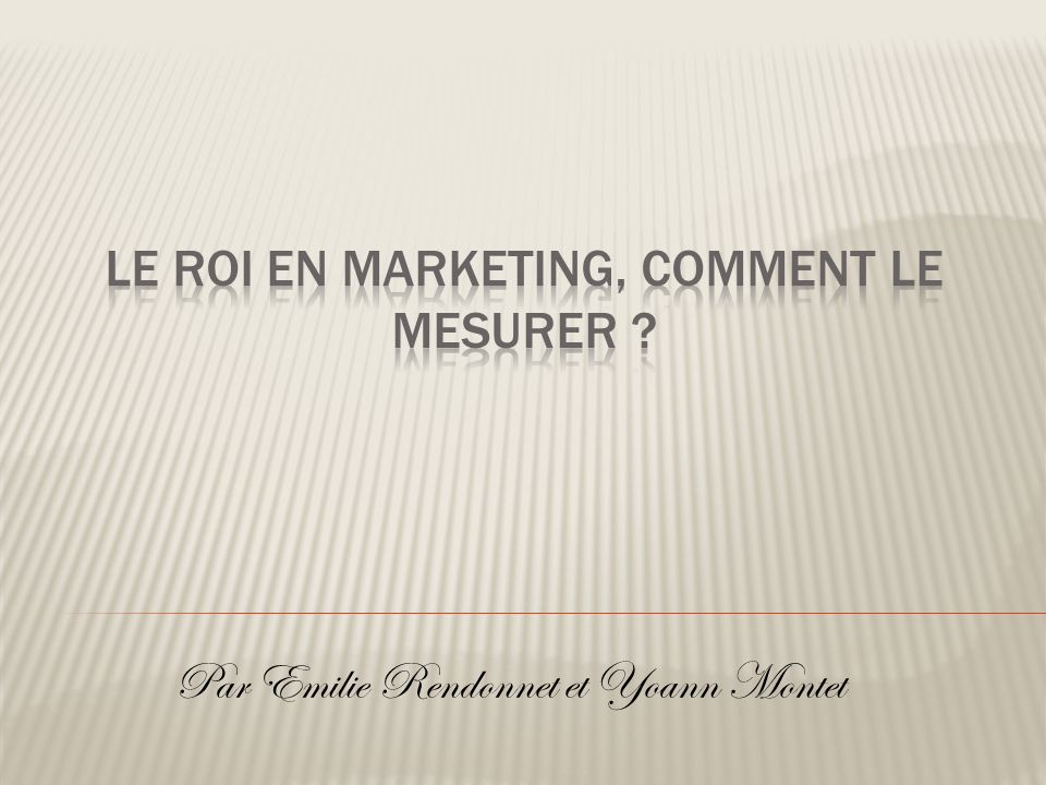 Le ROI en marketing, Comment le mesurer