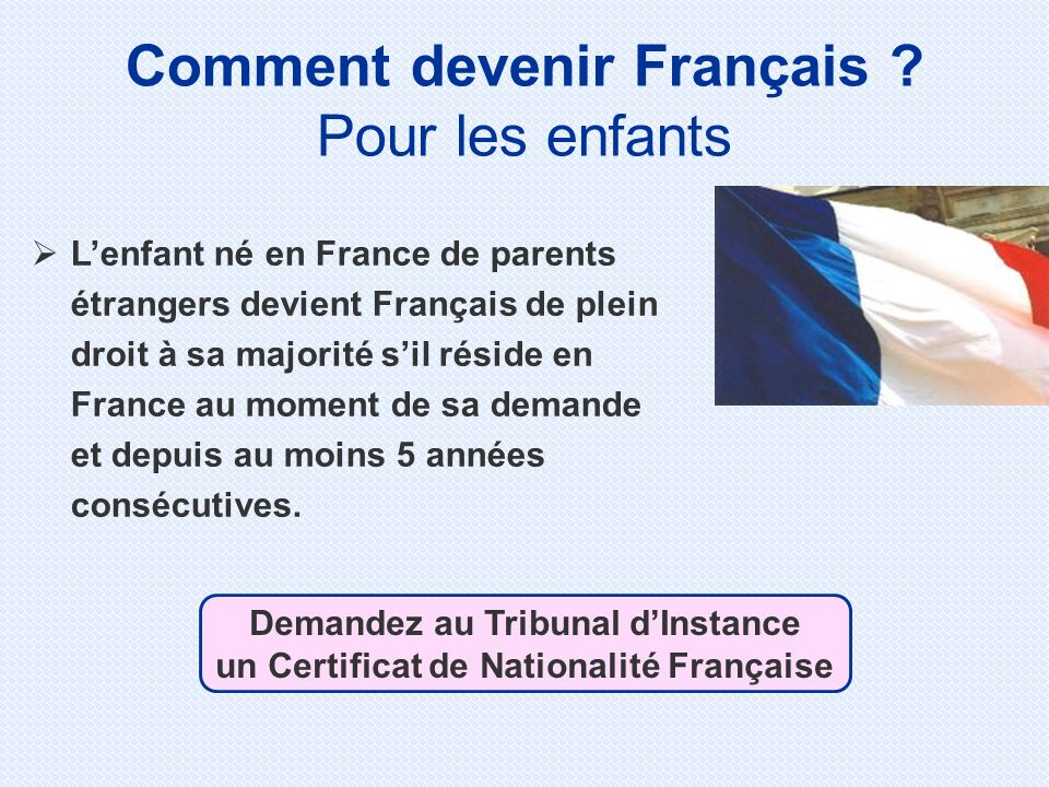 Comment devenir Français