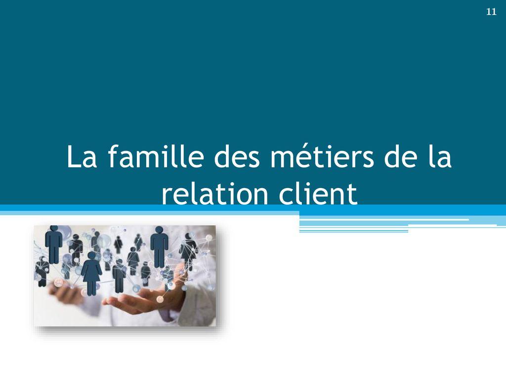 Famille des métiers de la relation client - ppt télécharger