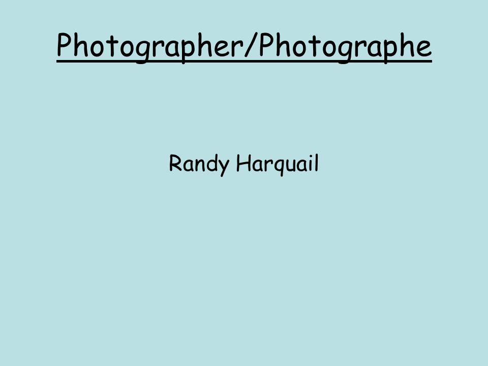 Photographer/Photographe