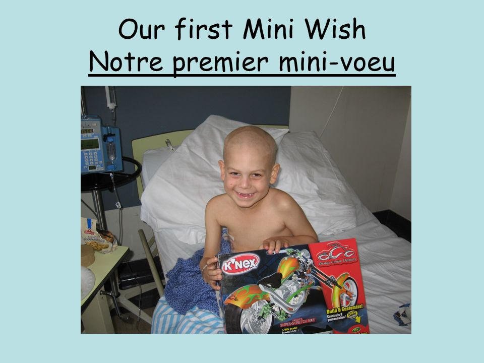 Our first Mini Wish Notre premier mini-voeu