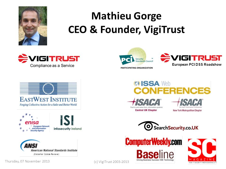 Mathieu Gorge CEO & Founder, VigiTrust