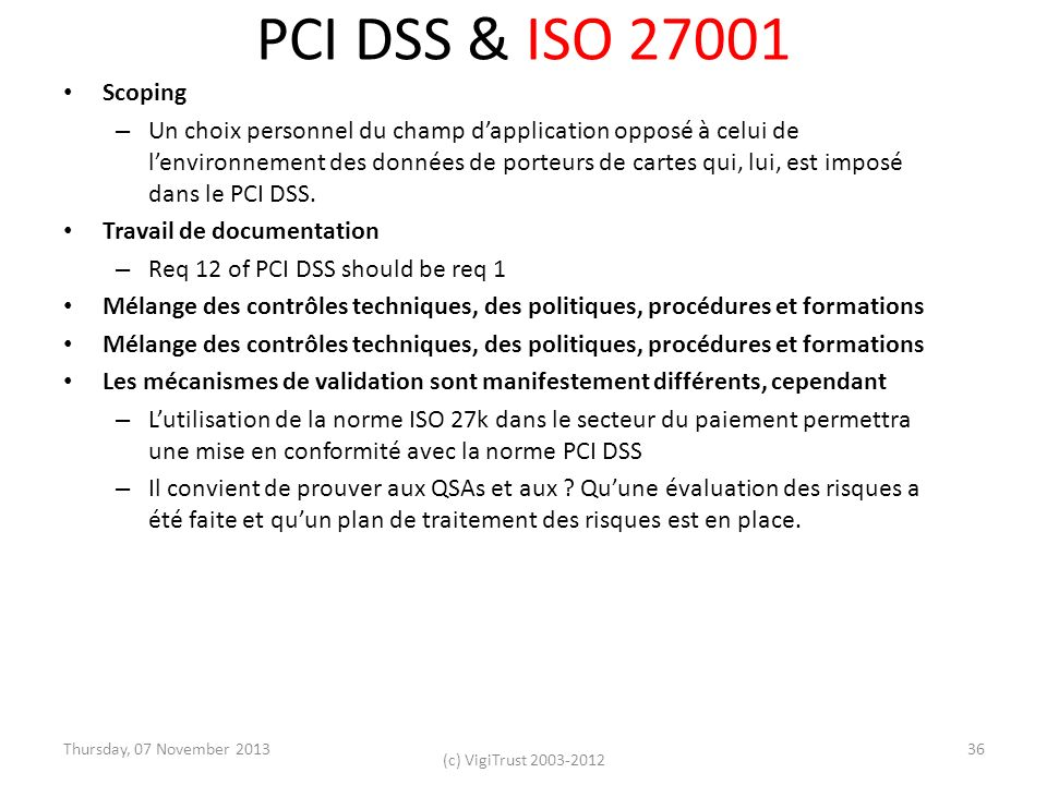 PCI DSS & ISO Scoping.