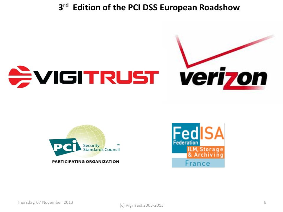 3rd Edition of the PCI DSS European Roadshow