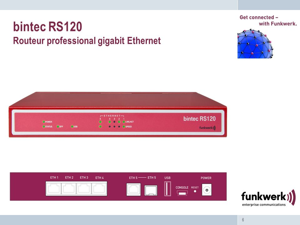 bintec RS120 Routeur professional gigabit Ethernet
