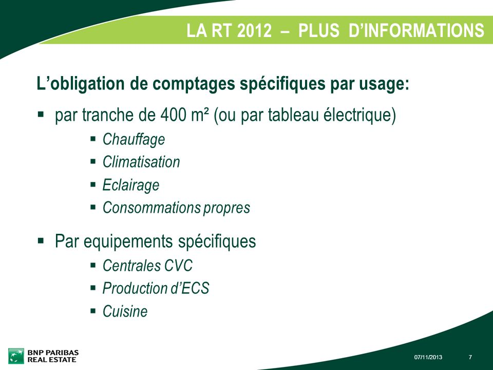 LA RT 2012 – PLUS D'INFORMATIONS