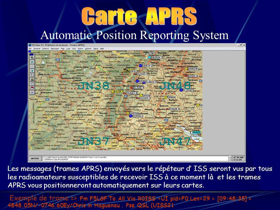 Carte APRS Automatic Position Reporting System