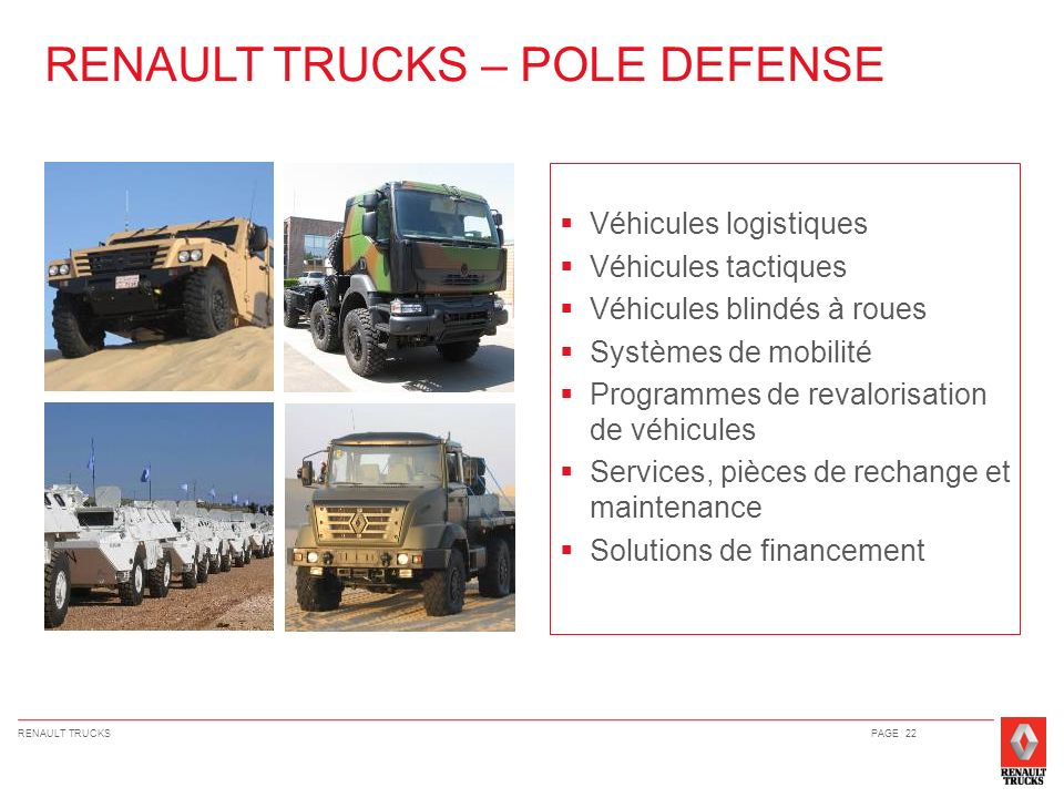 RENAULT TRUCKS – POLE DEFENSE