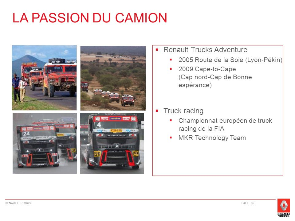 LA PASSION DU CAMION Renault Trucks Adventure Truck racing