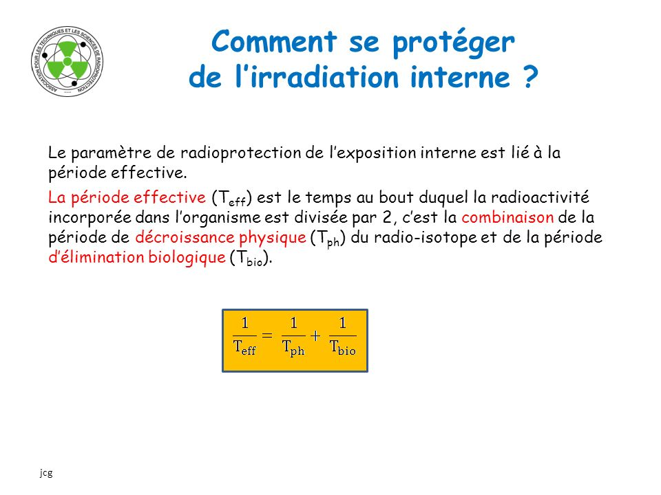 de l'irradiation interne