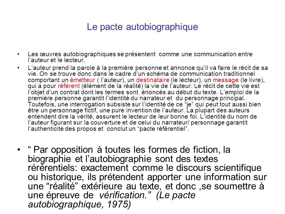 Autobiographie Autofiction Ppt Telecharger