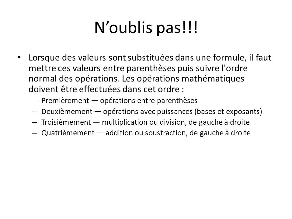 N'oublis pas!!!