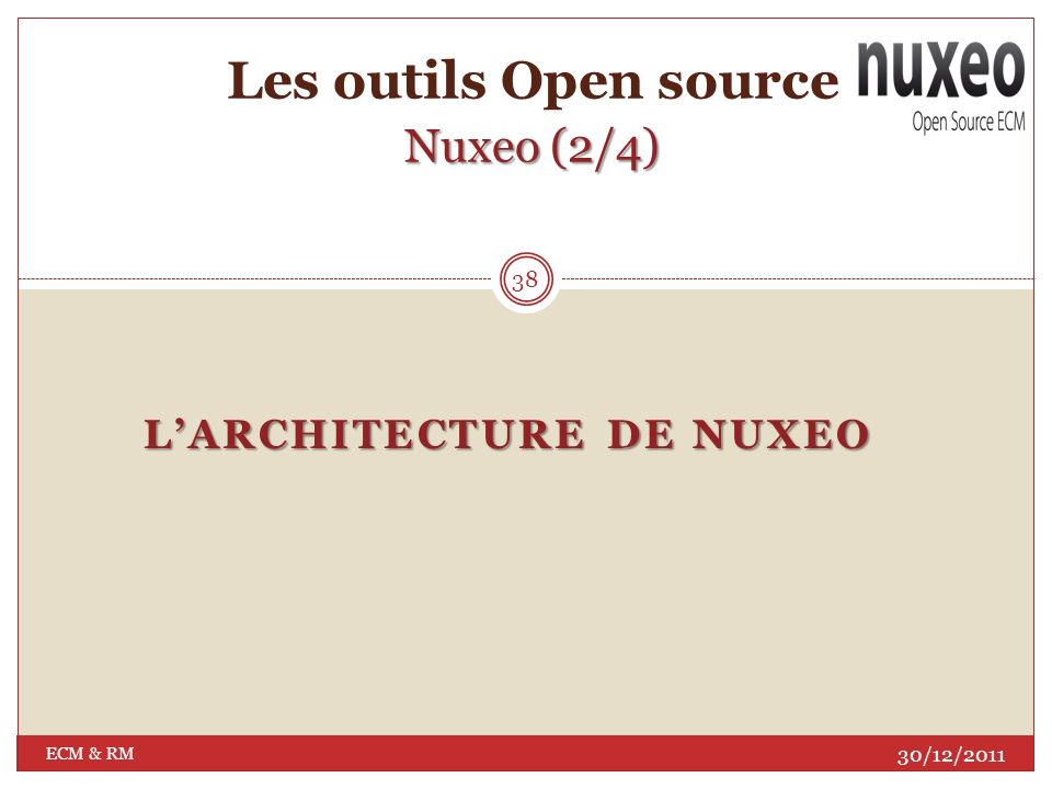 Les outils Open source Nuxeo (2/4)