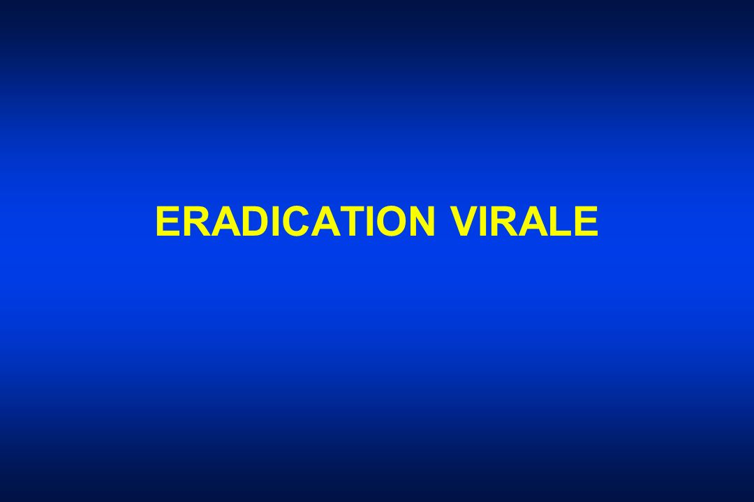 ERADICATION VIRALE