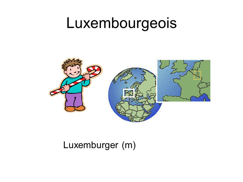 Luxembourgeois Luxemburger (m)