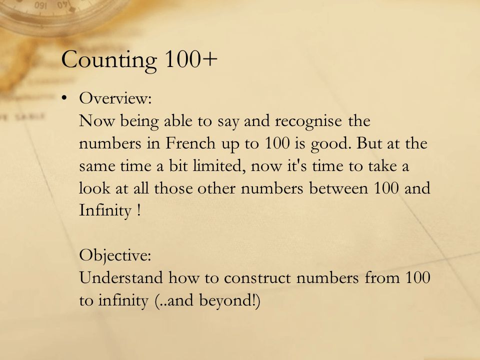 Counting 100+