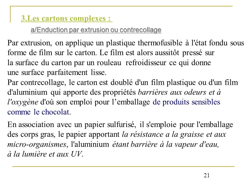 3.Les cartons complexes :